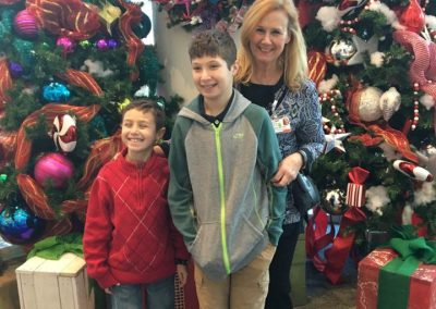 Boys at Hospital Christmas tree